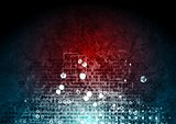 Grunge hi-tech red blue background