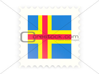 Postage stamp icon of aland islands