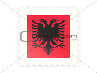 Postage stamp icon of albania