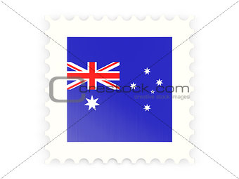 Postage stamp icon of australia
