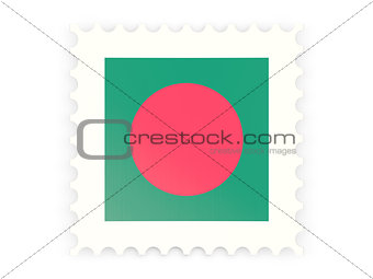 Postage stamp icon of bangladesh