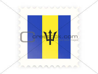 Postage stamp icon of barbados