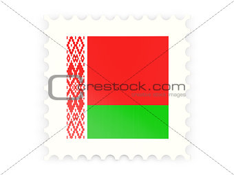Postage stamp icon of belarus