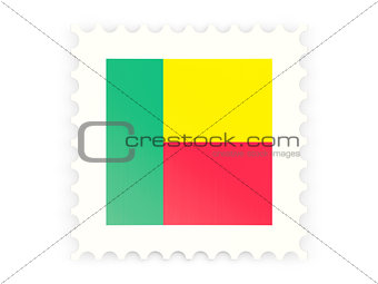Postage stamp icon of benin