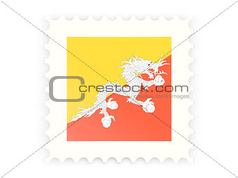 Postage stamp icon of bhutan