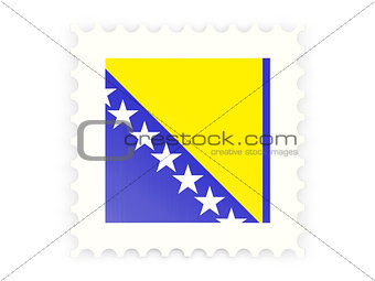 Postage stamp icon of bosnia and herzegovina