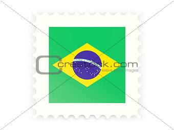Postage stamp icon of brazil