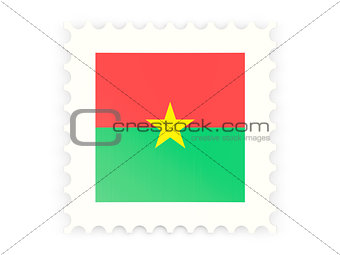 Postage stamp icon of burkina faso