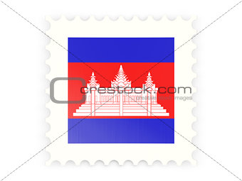 Postage stamp icon of cambodia