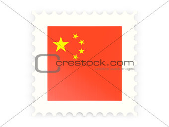 Postage stamp icon of china