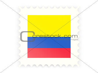 Postage stamp icon of colombia