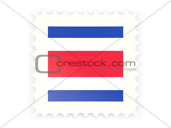 Postage stamp icon of costa rica