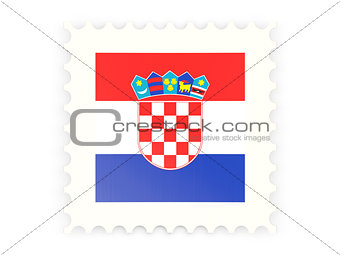 Postage stamp icon of croatia