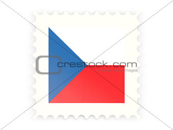 Postage stamp icon of czech republic