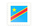 Postage stamp icon of democratic republic of the congo