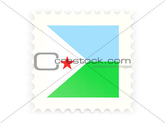 Postage stamp icon of djibouti