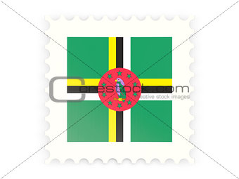 Postage stamp icon of dominica
