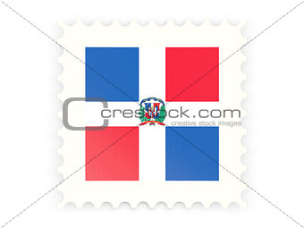 Postage stamp icon of dominican republic