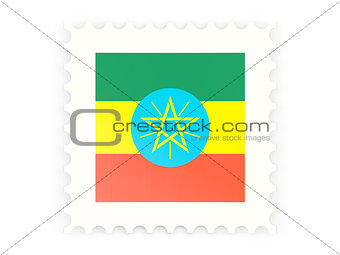Postage stamp icon of ethiopia
