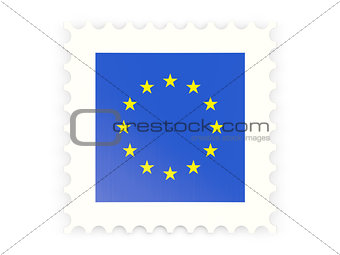Postage stamp icon of european union