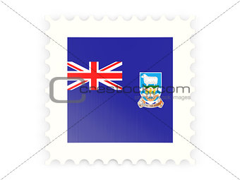 Postage stamp icon of falkland islands