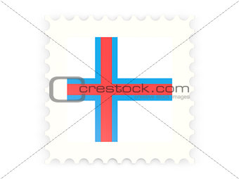 Postage stamp icon of faroe islands