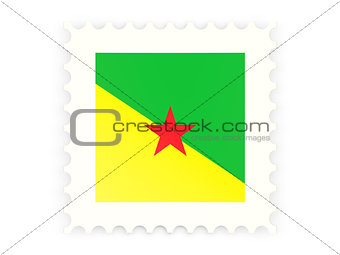 Postage stamp icon of french guiana