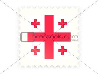 Postage stamp icon of georgia