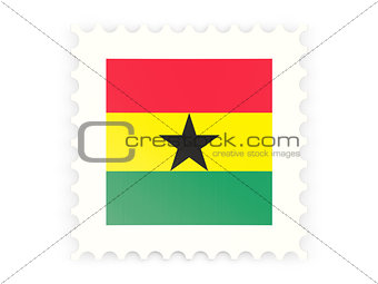 Postage stamp icon of ghana