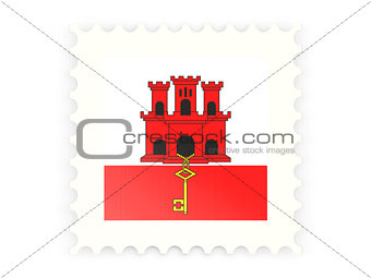 Postage stamp icon of gibraltar