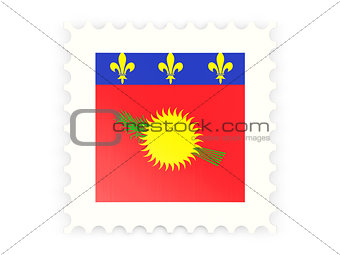 Postage stamp icon of guadeloupe