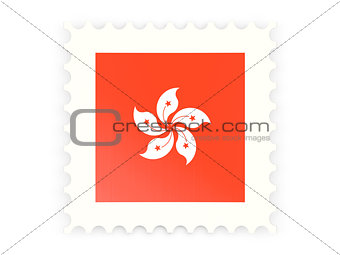 Postage stamp icon of hong kong