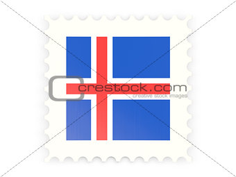 Postage stamp icon of iceland