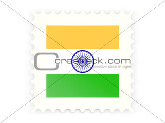 Postage stamp icon of india