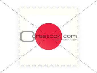 Postage stamp icon of japan