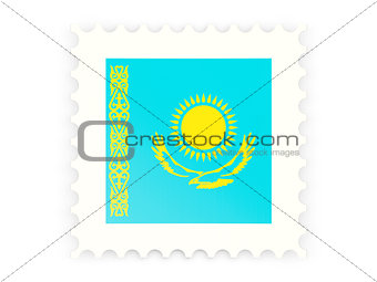 Postage stamp icon of kazakhstan