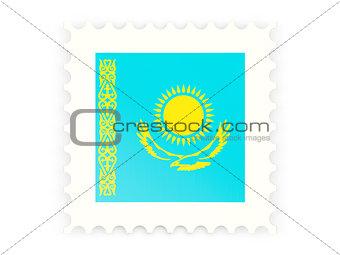 Postage stamp icon of kazakhstan