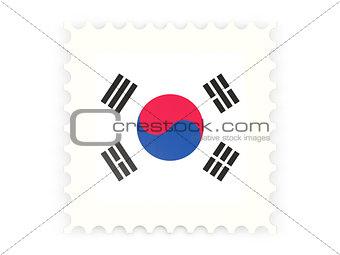 Postage stamp icon of south korea