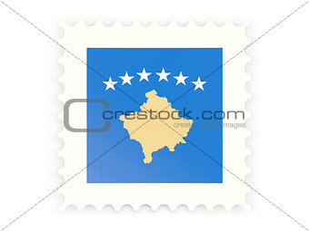 Postage stamp icon of kosovo
