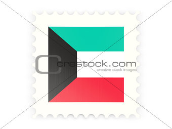 Postage stamp icon of kuwait