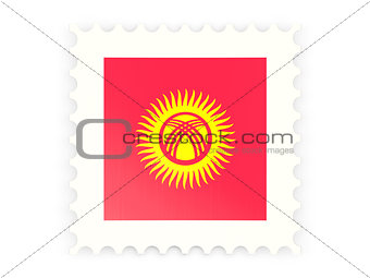 Postage stamp icon of kyrgyzstan