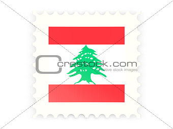 Postage stamp icon of lebanon