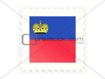 Postage stamp icon of liechtenstein