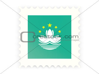 Postage stamp icon of macao