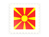 Postage stamp icon of macedonia
