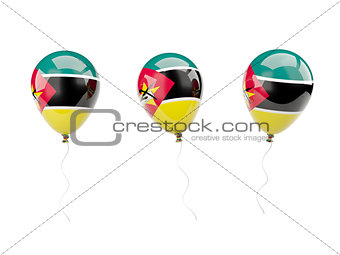 Air balloons with flag of mozambique