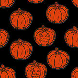 halloween seamless pattern with pumpkins