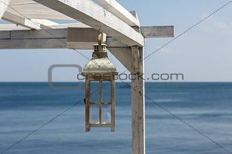 Painted Wooden lantern