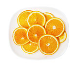 orange on a white plate