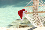 Hammock on a tropical beach resort in christmas holidays